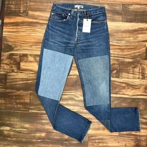 LEVIS RE/DONE HIGH WAISTED PATCHWORK JEANS 26 #7